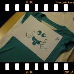 Tshirt mit aufgebrachter Schablone